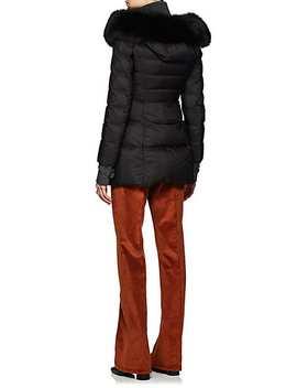 Fox Fur Trimmed Puffer Coat by Prada