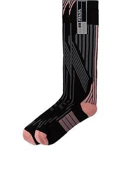 Striped Knee Socks by Prada
