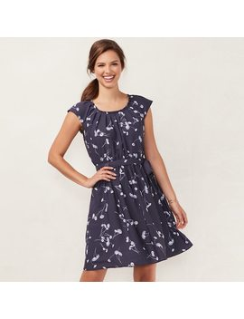 Women's Lc Lauren Conrad Floral Pleated Dress by Kohl's