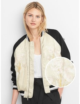 Limited Edition Embroidered Jacquard Bomber Jacket by Gap