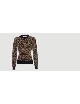 Cheetah Crew Sweater by Frame