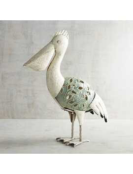 Led Metal &Amp; Ceramic Pelican by Pier1 Imports