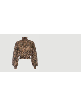 smocked-cheetah-blouse by frame