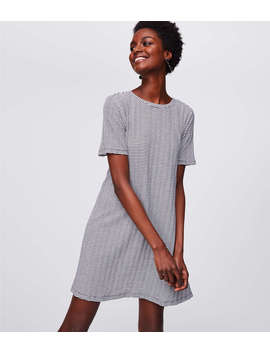Tall Bow Back Short Sleeve Swing Dress by Loft