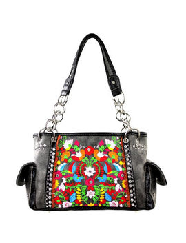 Montana West Layla Embroidered Floral Shoulder Bag by Montana West