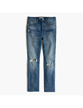 The Tall High Rise Slim Boyjean: Knee Rip Edition by Madewell
