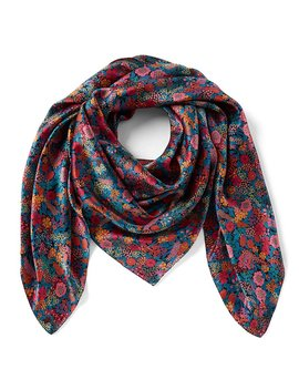 Made With Liberty Fabrics Ciara Square Silk Scarf by Antonio Melani