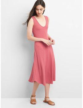 Sleeveless V Neck Midi Sweater Dress by Gap