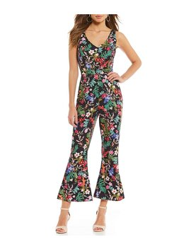 Gianni Bini Sophia Floral Print Cropped Flared Jumpsuit by Gianni Bini