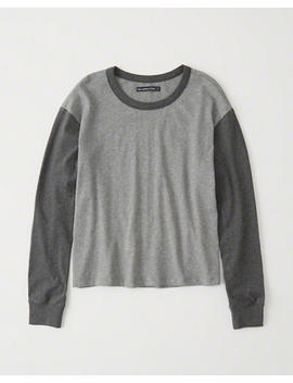 Long Sleeve Colorblock Tee by Abercrombie & Fitch