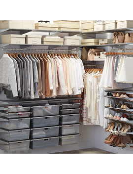 Platinum Elfa Walk In Closet by Container Store