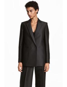Silk Blend Blazer by H&M