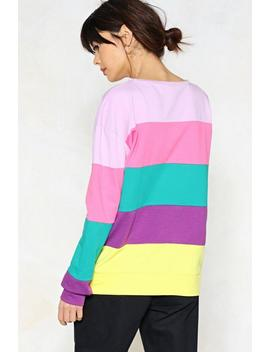 Stripe Around The Corner Sweater by Nasty Gal