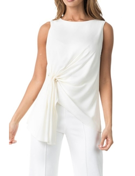 White Asymmetric Blouse by Dor L'dor, New York City