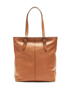 Portfolio Knotted Phone Charging Italian Leather Tote by Banana Repbulic