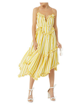 Lumino Striped Floating Dress by Zimmermann