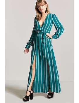 Surplice M Slit Dress by F21 Contemporary