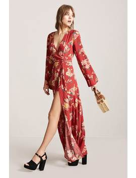 Floral Maxi Skort Playsuit by F21 Contemporary