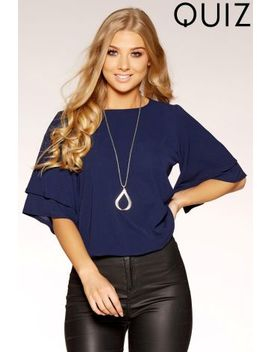 Quiz Double Sleeve Necklace Top by Next