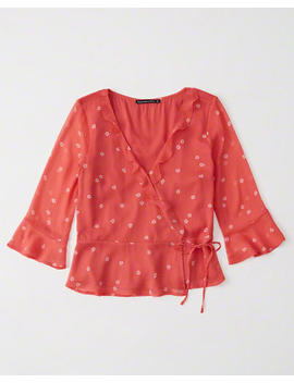 Wrap Front Blouse by Abercrombie & Fitch
