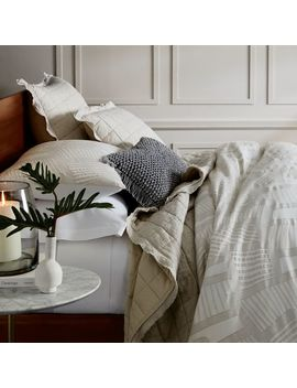 Roar + Rabbit™ Organic Hand Clipped Jacquard Bedding   Shop By Look by West Elm