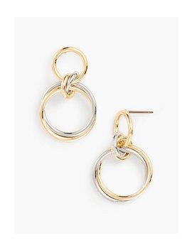 Interlocking Rings Earrings by Talbots