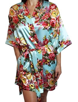 Colorful Silky Robe by Darnell's Fun Stuff, Alabama