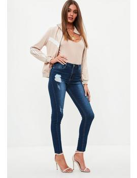 Blue Sinner Clean Distressed Jeans by Missguided