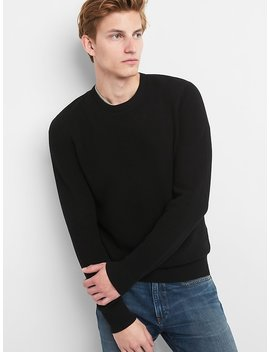 Textured Crewneck Pullover Sweater by Gap