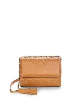 Fleming Small Leather Shoulder Bag by Tory Burch
