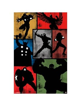 Avengers   Simplistic Grid Poster   22x34 by Trends International