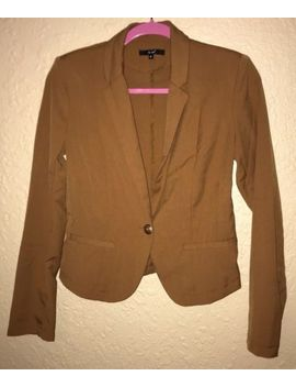 Papaya, Light Brown Blazer With Gold Button Size M Good Condition by Papaya