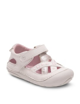 Stride Rite Girls´ Kiki Leather Criss Cross Banded Hook And Loop Casual Shoes by Stride Rite