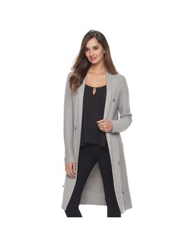 Women's Jennifer Lopez Long Ribbed Cardigan by Kohl's