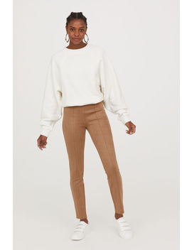 Faux Suede Treggings by H&M