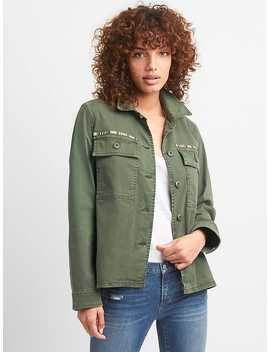 Embroidered Chest Pocket Utility Jacket by Gap