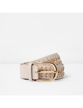 Nude Chain Insert Jeans Belt                                  Nude Chain Insert Jeans Belt by River Island