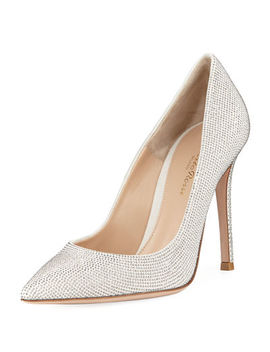 Nailhead Studded 105mm Pump by Gianvito Rossi