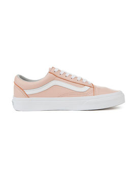 The Women's Old Skool Leather In Oxford And Sand by Vans