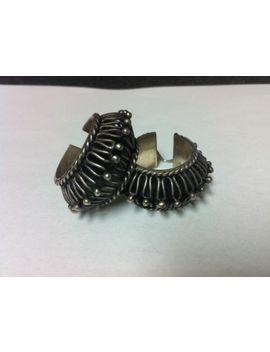 Vintage Sterling Silver Hand Crafted Hoop Ear Rings Unique Look&Nbsp; by Ebay Seller