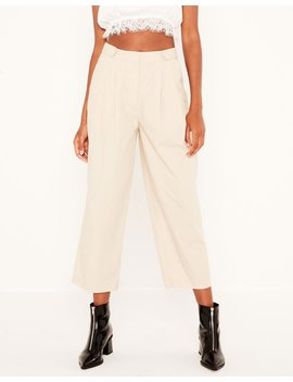 High Waist Pleat Front Pant by Glassons