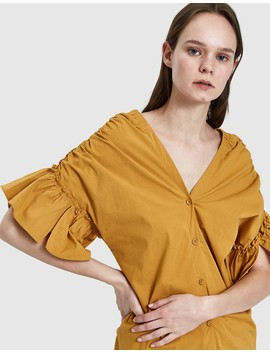 Mila Top In Mustard by Need Supply Co.