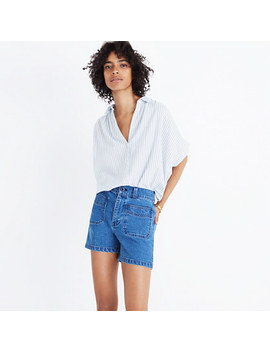 High Rise Denim Shorts: Patch Pocket Edition by Madewell