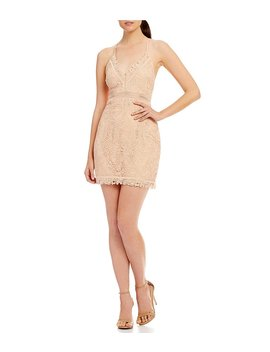The Jetset Diaries Hyacinth Scalloped Lace Mini Dress by The Jetset Diaries
