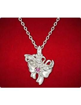 Rare Pokémon Silver Necklace Nymphia×Ribbon Sylveon Pokemon Center K Uno Japan by Pokemon
