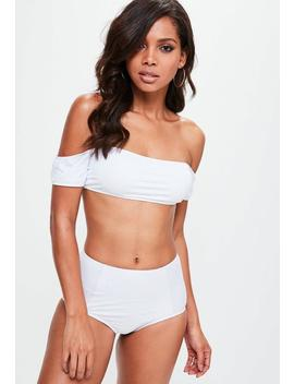 White Bardot Bikini Top   Mix & Match by Missguided