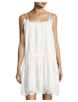 Embroidered Cotton Tunic Dress by Max Studio