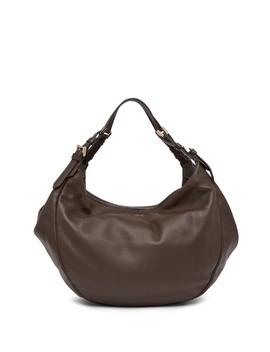 Leather Hobo Bag by Emporio Armani