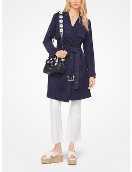 Belted Suede Trench Coat by Michael Michael Kors