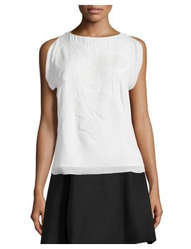 Sleeveless Top W/ Cowl Back by Halston Heritage